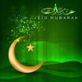 Shiny Eid Mubarak background. Stock Images