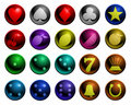 Shiny gambling icons Royalty Free Stock Images