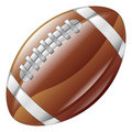 Shiny glossy american football ball icon Royalty Free Stock Images