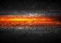 Shiny glow arrows orange background
