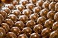 Shiny gold beads background Royalty Free Stock Photography