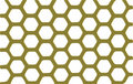 Shiny gold security grid - white background. Stock Image