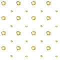 Shiny golden abstract texture. Tile dottetd backdrop. Warping paper with golden circles and dots on white.