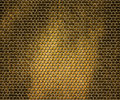 Shiny golden hex metal background Royalty Free Stock Photo