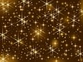 Shiny golden stars, Christmas sparkle, starry sky Royalty Free Stock Photography