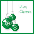 Shiny green christmas decoration baubles hanging eps10