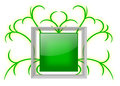 Shiny Green Message Board with Glass Frame Royalty Free Stock Photo