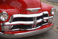 Shiny Grill and Bumper of Antique Truck Royalty Free Stock Photography