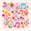 Shiny happy colorful background Stock Photos
