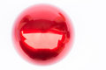 Shiny hard red ball on white background stock photo Stock Photography