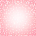 Shiny hearts valentine background with bokeh on pink background Stock Images