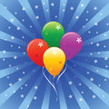 Shiny Holiday Vector Balloons Royalty Free Stock Photography