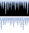 Shiny icicles black and white backgrounds of Royalty Free Stock Images
