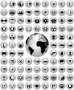 Shiny icon collection Royalty Free Stock Photos