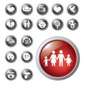 Shiny icons Stock Photography