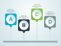 Shiny infographic elements for Business. Royalty Free Stock Photo
