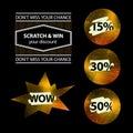 Shiny Lottery Tags with Percents Royalty Free Stock Photo