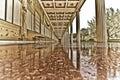 Shiny marble walkway Royalty Free Stock Photo