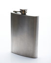 Shiny metal stainless flask Royalty Free Stock Photo