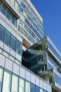 Shiny modern glass business center Royalty Free Stock Photo