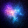 Shiny mosaic background made of triangle pattern Stock Photography