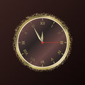 Shiny New Year Clock. Vector illustration Royalty Free Stock Photo