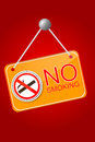 Shiny No Smoking Sign Royalty Free Stock Photo
