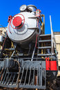 Shiny old steam against the sky Royalty Free Stock Photography