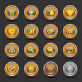 Shiny Orange Icons Set 2 - Web Royalty Free Stock Photo