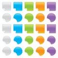 Shiny Peeling Stickers Royalty Free Stock Photo