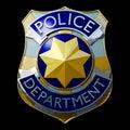 Shiny police badge