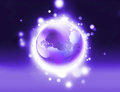 Shiny purple world Stock Photo