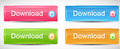 Shiny rectangle menu buttons vector illustration this is file of eps format Stock Image