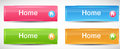 Shiny rectangle menu buttons vector illustration this is file of eps format Stock Photography