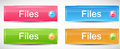 Shiny rectangle menu buttons vector illustration this is file of eps format Royalty Free Stock Image