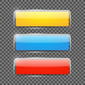 Shiny rectangular web banners or buttons