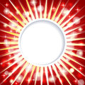 Shiny red abstract background paper imitating template with rays and sparkles Royalty Free Stock Photography