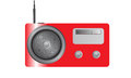 Shiny red radio a stylish yet old fashioned cartoon Stock Photo