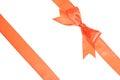 Shiny satin ribbon isolated on white background Stock Image