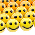 Shiny smiley face background made of sphere faces Stock Photos