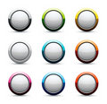 Shiny sphere icons Royalty Free Stock Images