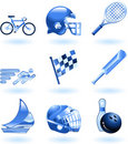Shiny sports icon set series Stock Photos