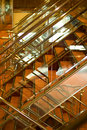 Shiny stairway on cruise ship Stock Images