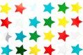 Shiny Star Stickers Royalty Free Stock Photo