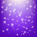 Shiny stars on purple