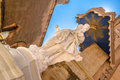 Shiny statue shining of the virgin mary in mdina Royalty Free Stock Image