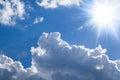 Shiny sun - bright clouds