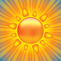 Shiny sun design element Stock Image