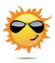 Shiny sun icons Royalty Free Stock Photo