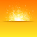Shiny sun vector sunbeams sunrays bokeh and space for your text Stock Photo